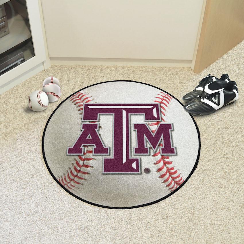 Texas A&M Aggies Baseball Floor Mat