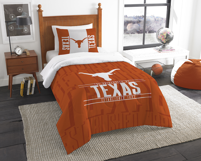 Texas Longhorns Twin Comforter Set with Sham