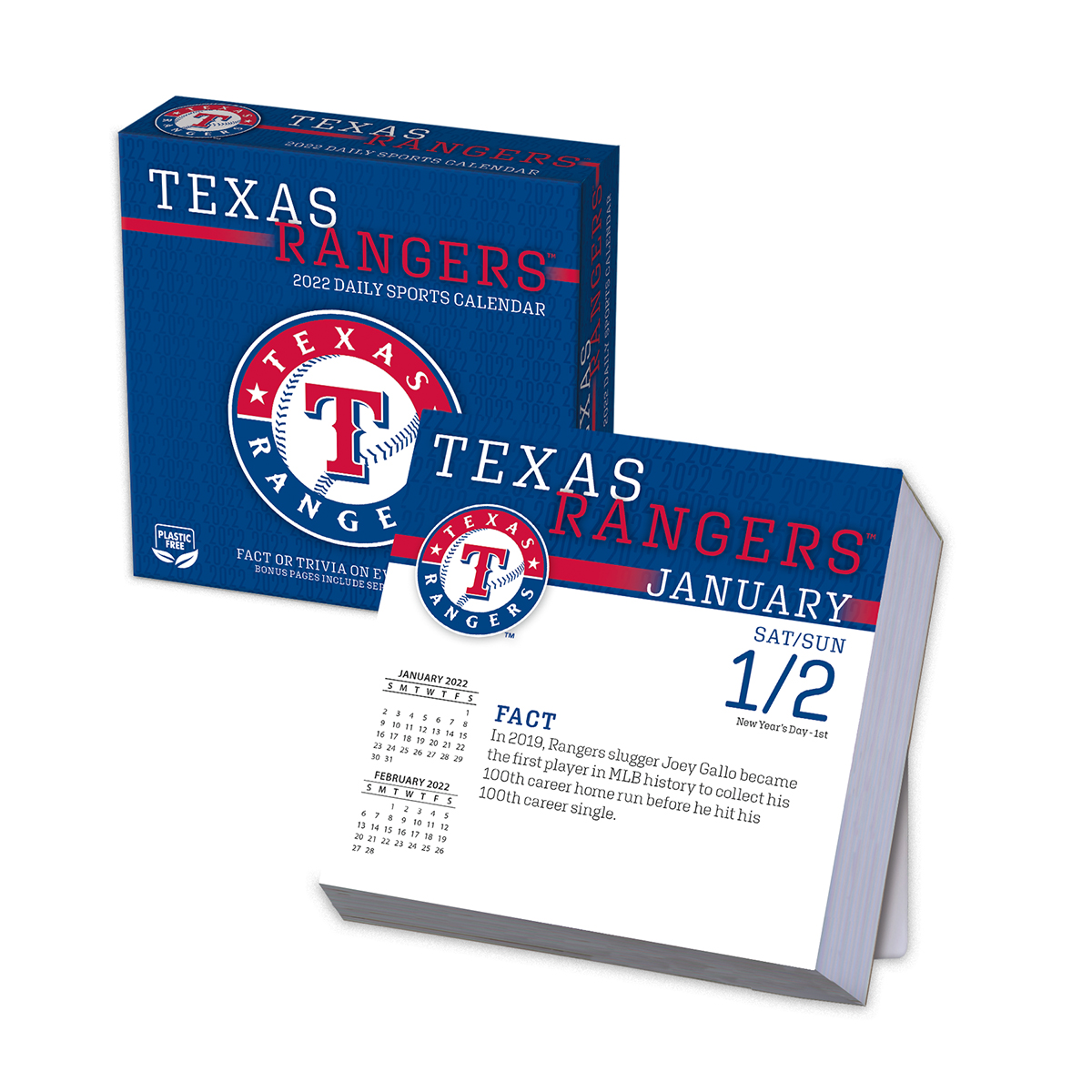 Texas Rangers 2019 Page A Day Box Calendar Buy At Khc Sports