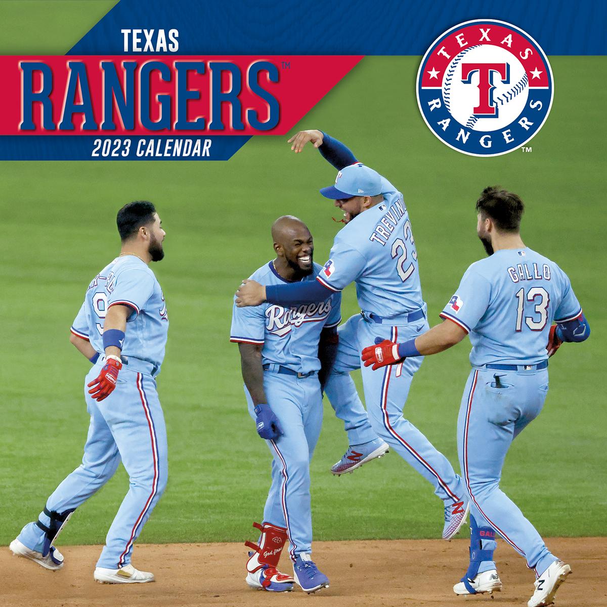 Texas Rangers 2019 Wall Calendar Buy At Khc Sports