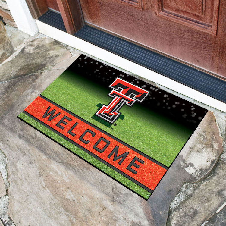 Texas Tech Red Raiders Recycled Crumb Rubber Door Mat