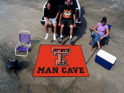 Texas Tech Red Raiders MAN CAVE TAILGATER 60 x 72 Rug