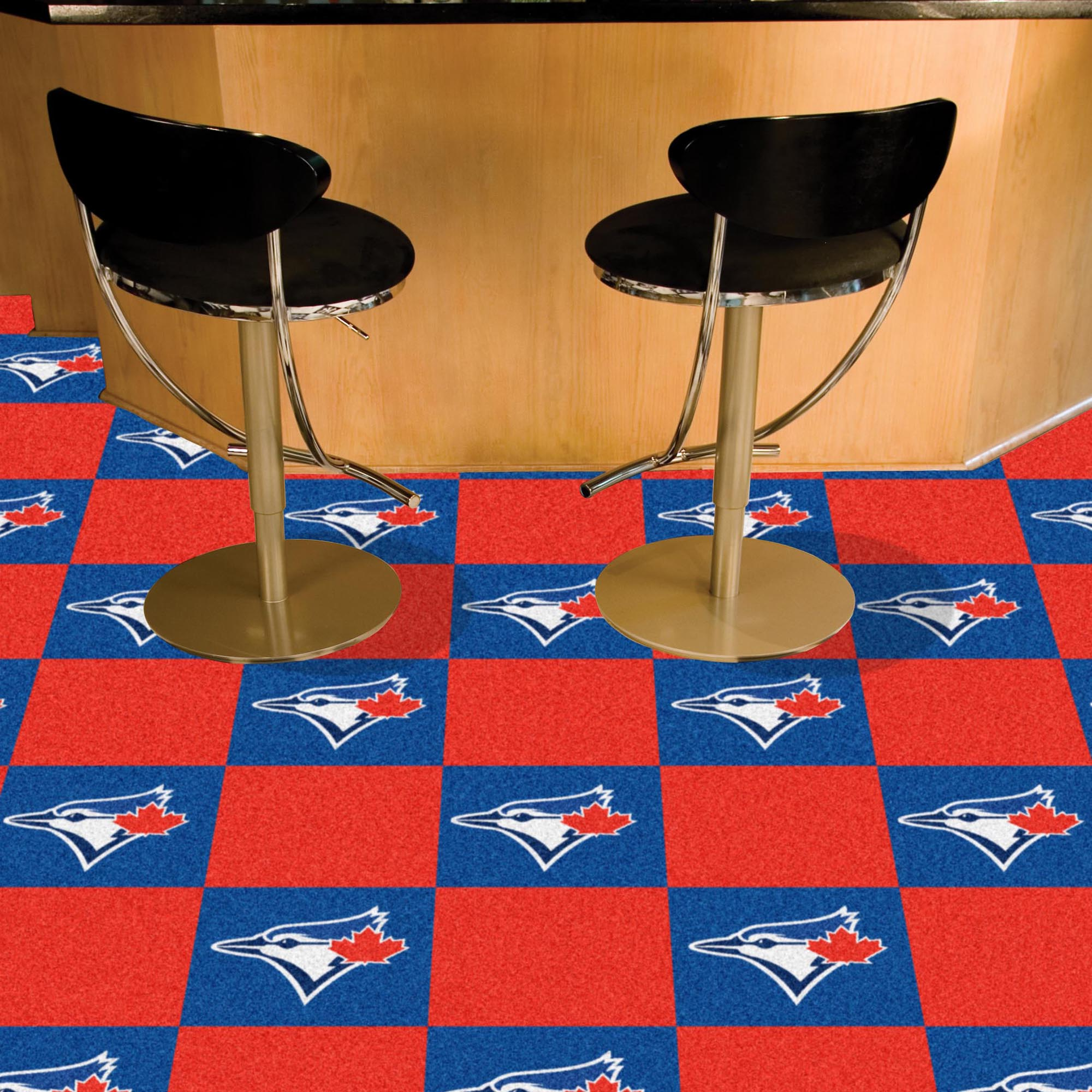 Toronto Blue Jays Carpet Tiles 18x18 in.