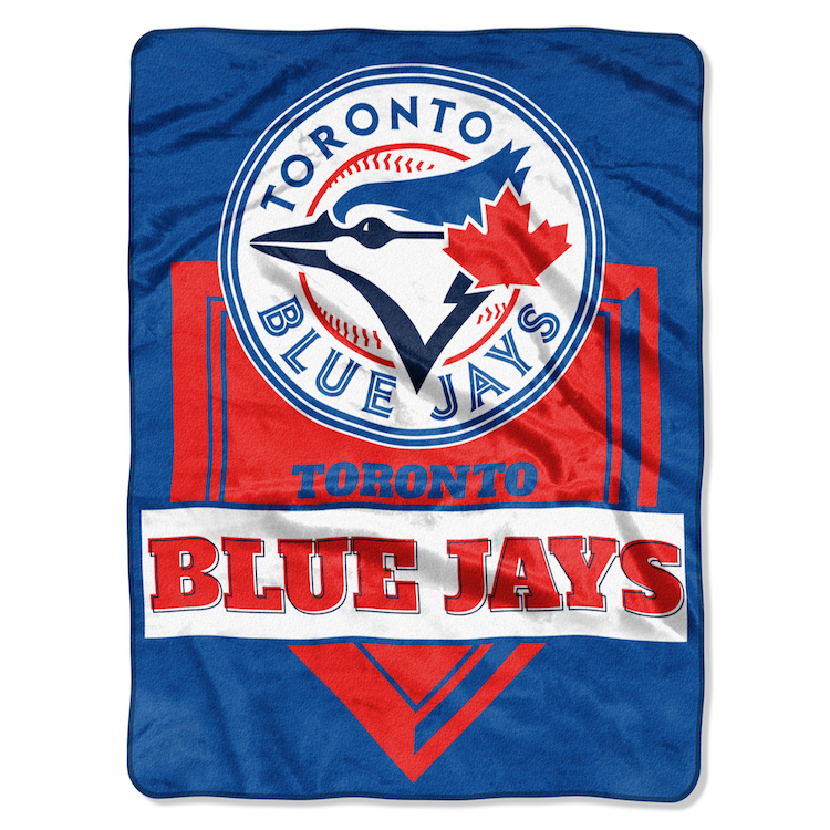 Toronto Blue Jays Large Plush Fleece HOME PLATE 60 x 80 Blanket