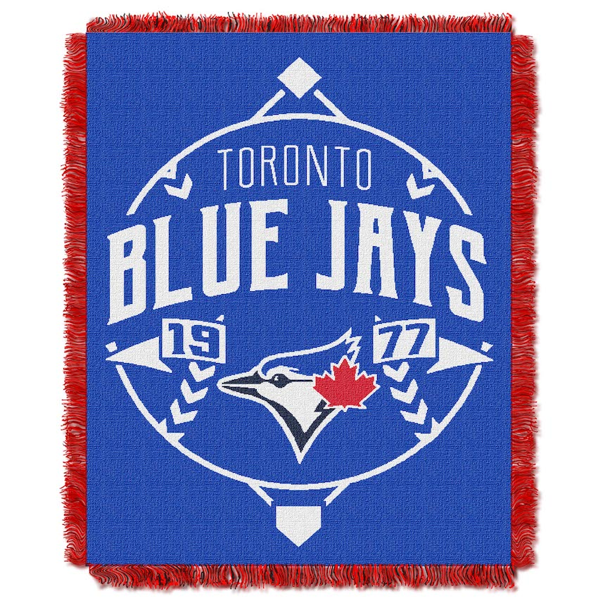 Toronto Blue Jays MLB Double Play Tapestry Blanket 48 x 60