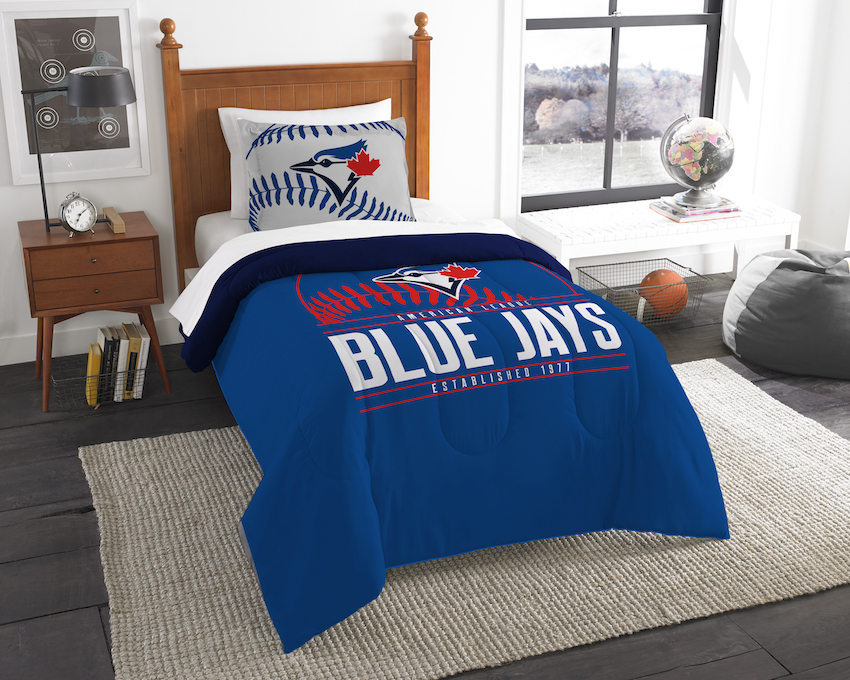 Toronto Blue Jays Twin Comforter Set with Sham