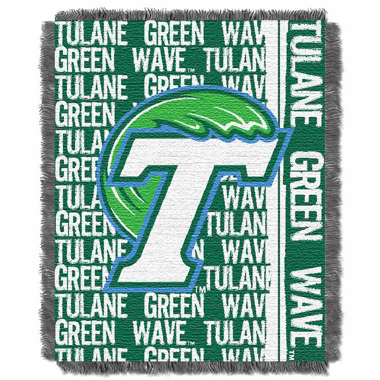Tulane Green Wave Double Play Tapestry Blanket 48 x 60