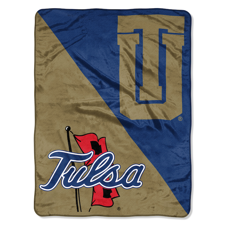 Tulsa Golden Hurricane Micro Raschel 50 x 60 Team Blanket