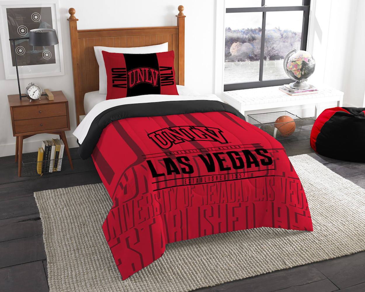 UNLV Rebels Twin Comforter Set with Sham