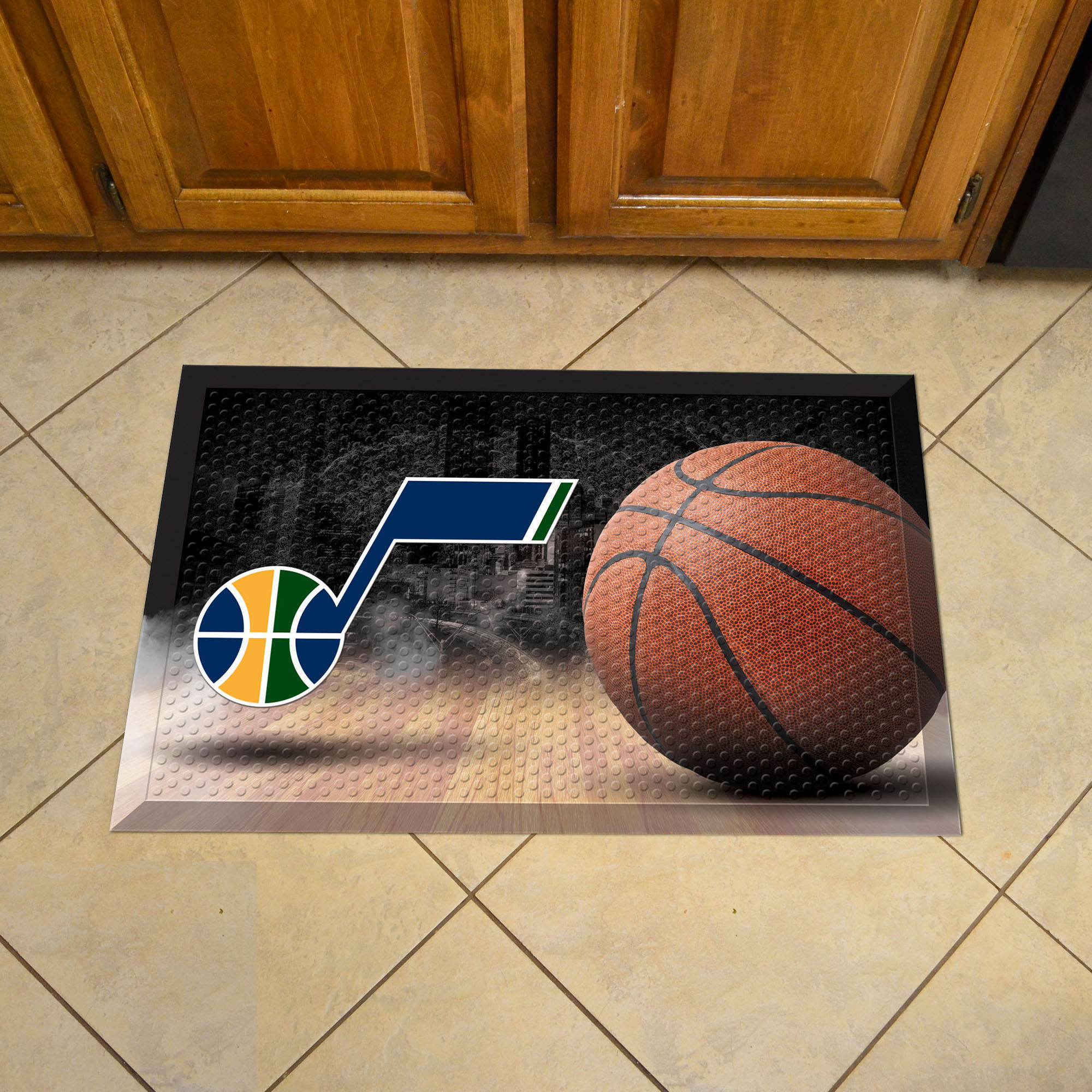 Utah Jazz Ball Style SCRAPER Door Mat