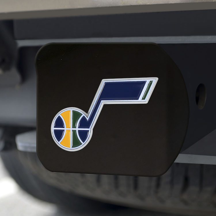 Utah Jazz Black and Color Trailer Hitch Cover