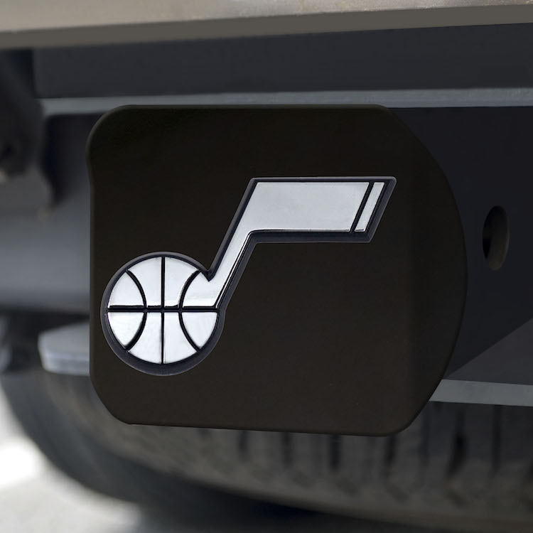 Utah Jazz BLACK Trailer Hitch Cover