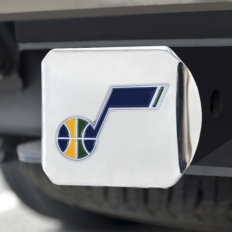 Utah Jazz Color Chrome Trailer Hitch Cover