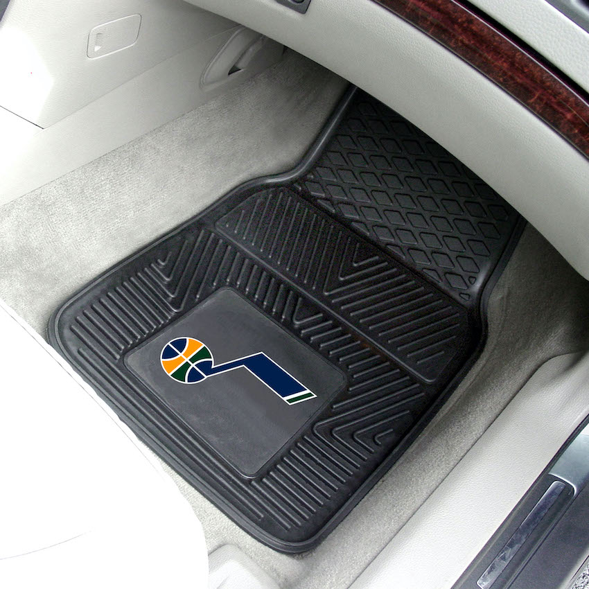 Utah Jazz Car Floor Mats 18 x 27 Heavy Duty Vinyl Pair