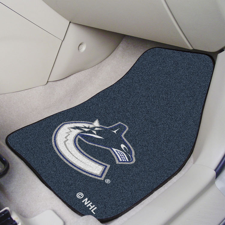 Vancouver Canucks Car Floor Mats 18 x 27 Carpeted-Pair