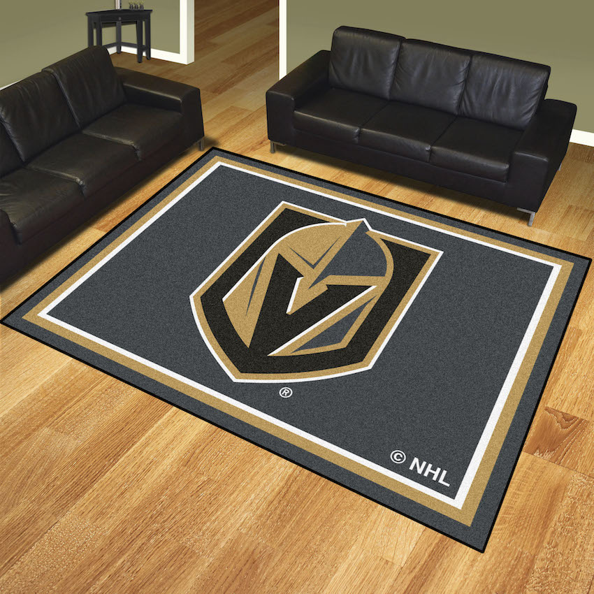 Vegas Golden Knights Ultra Plush 8x10 Area Rug