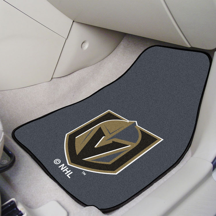 Vegas Golden Knights Car Floor Mats 18 x 27 Carpeted-Pair