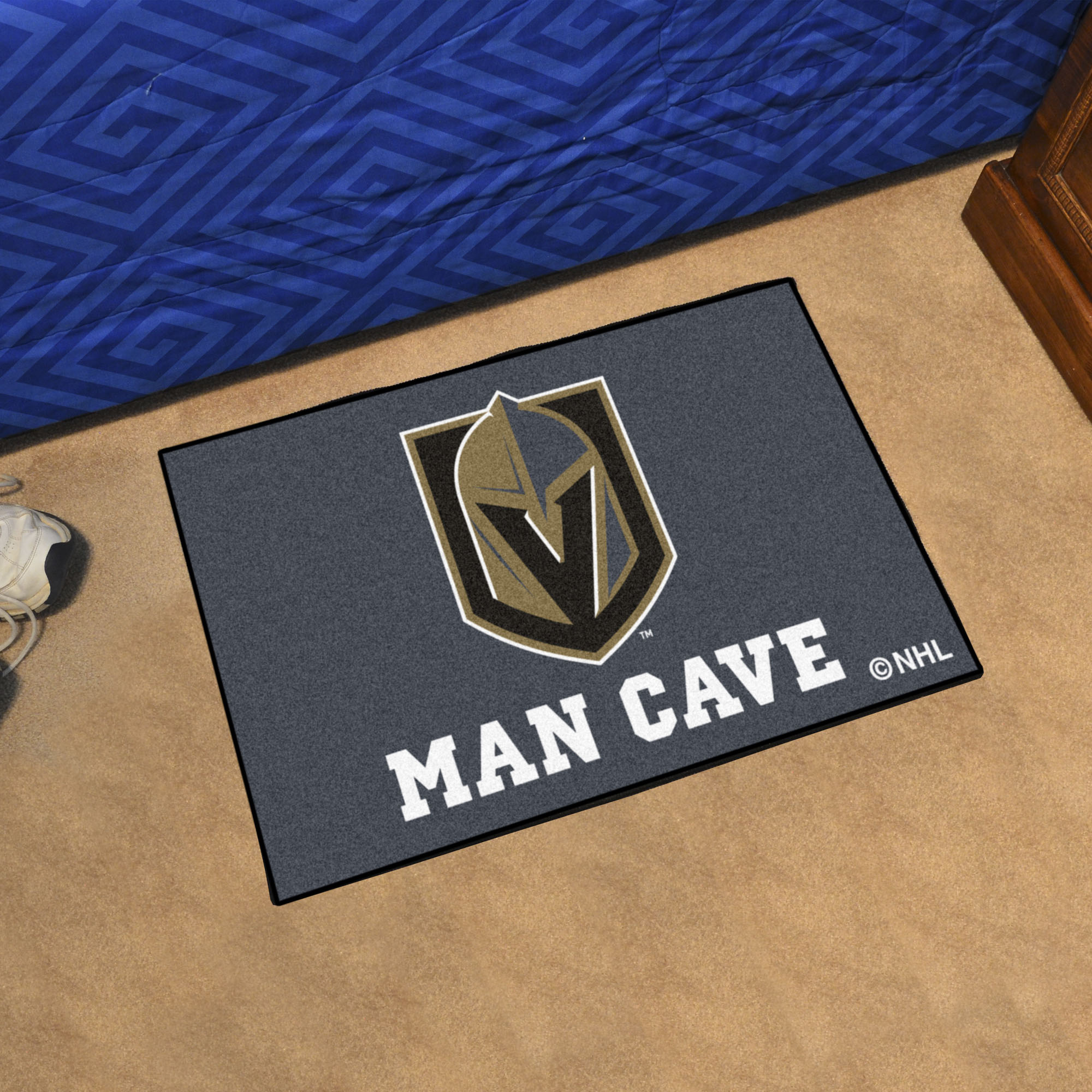 Vegas Golden Knights MAN CAVE 20 x 30 STARTER Floor Mat
