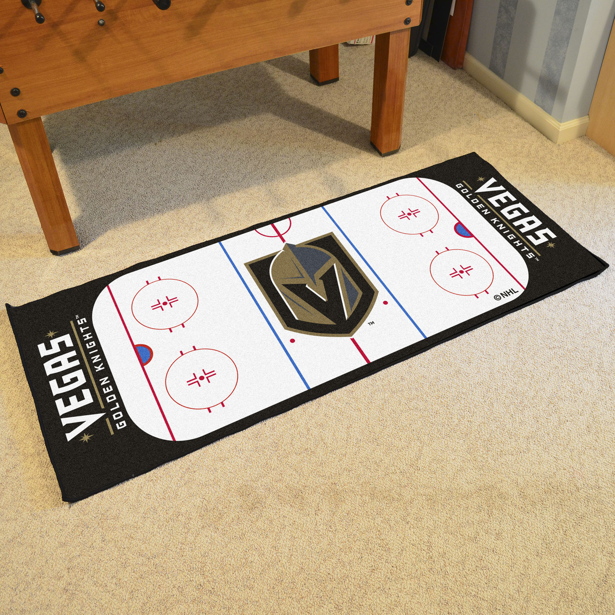 Vegas Golden Knights 30 x 72 Hockey Rink Carpet Runner