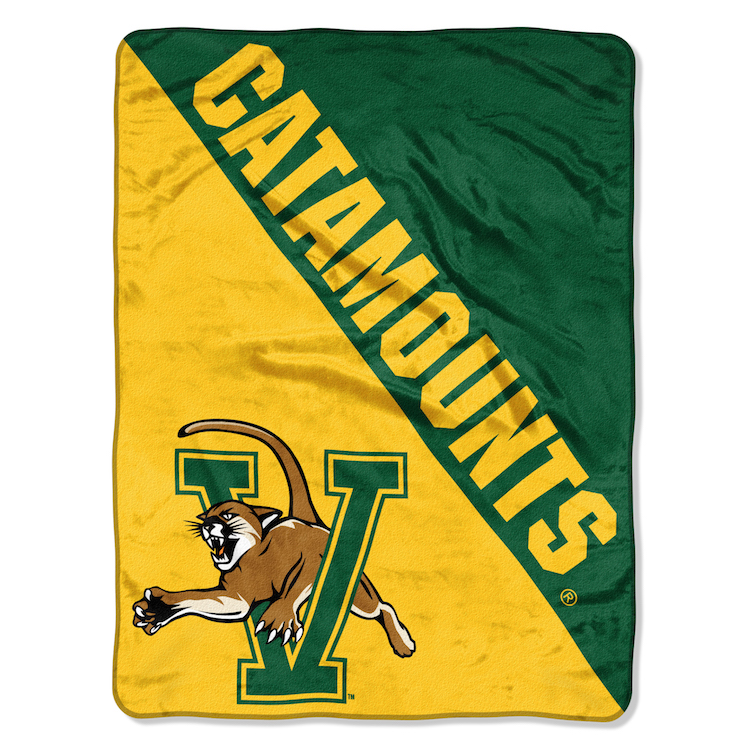 Vermont Catamounts Micro Raschel 50 x 60 Team Blanket