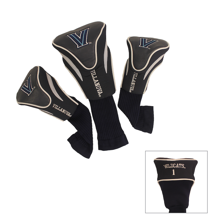 Villanova Wildcats 3 Pack Contour Headcovers