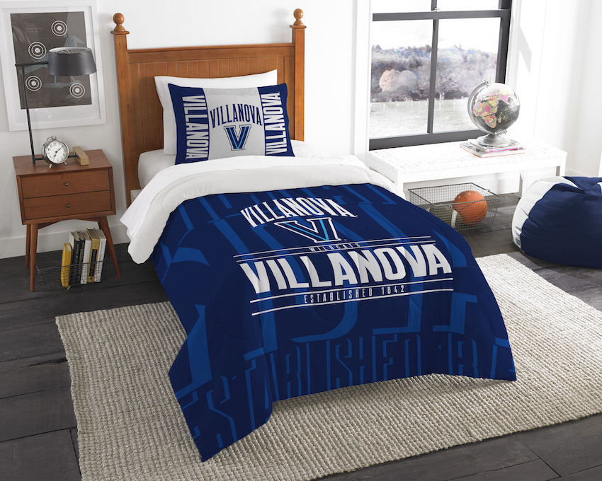 Villanova Wildcats Twin Comforter Set with Sham