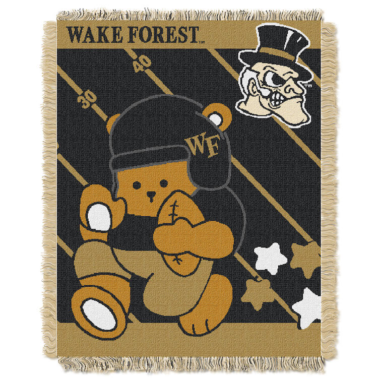 Wake Forest Demon Deacons Woven Baby Blanket 36 x 48