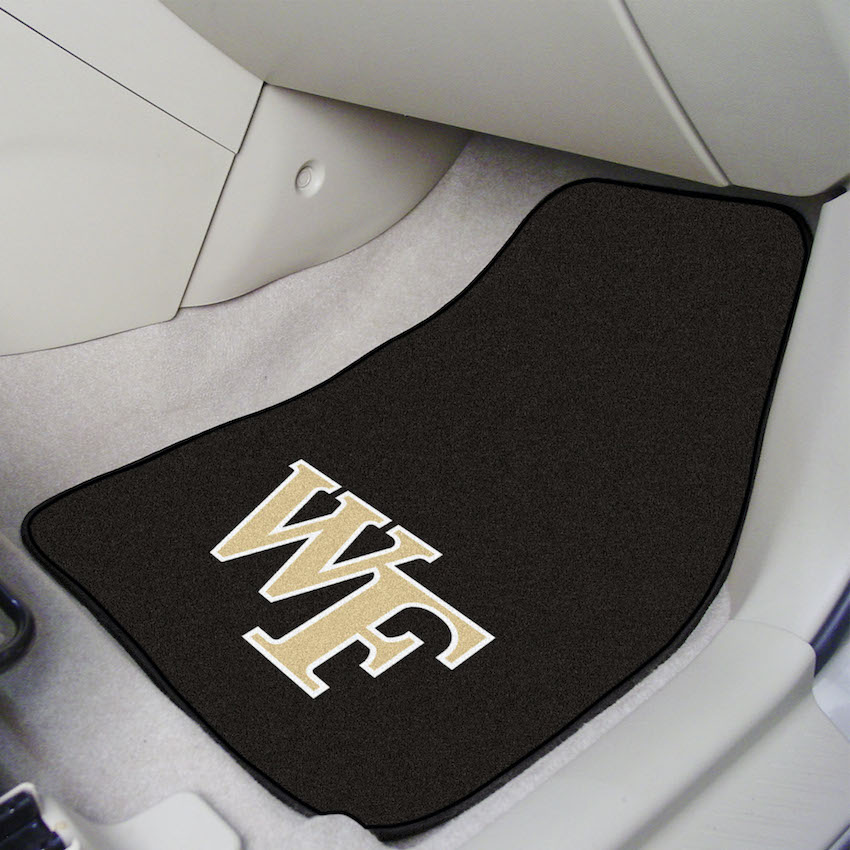 Wake Forest Demon Deacons Car Floor Mats 18 x 27 Carpeted-Pair