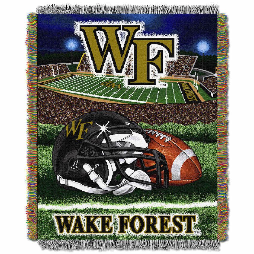 Wake Forest Demon Deacons Home Field Advantage Series Tapestry Blanket 48 x 60