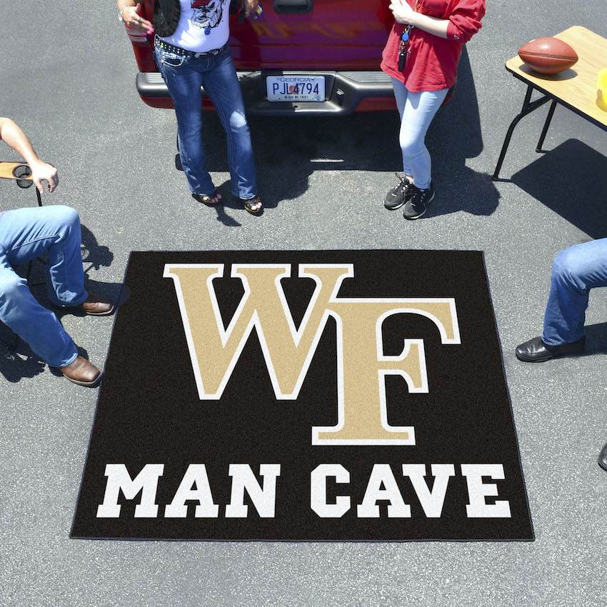 Wake Forest Demon Deacons MAN CAVE TAILGATER 60 x 72 Rug