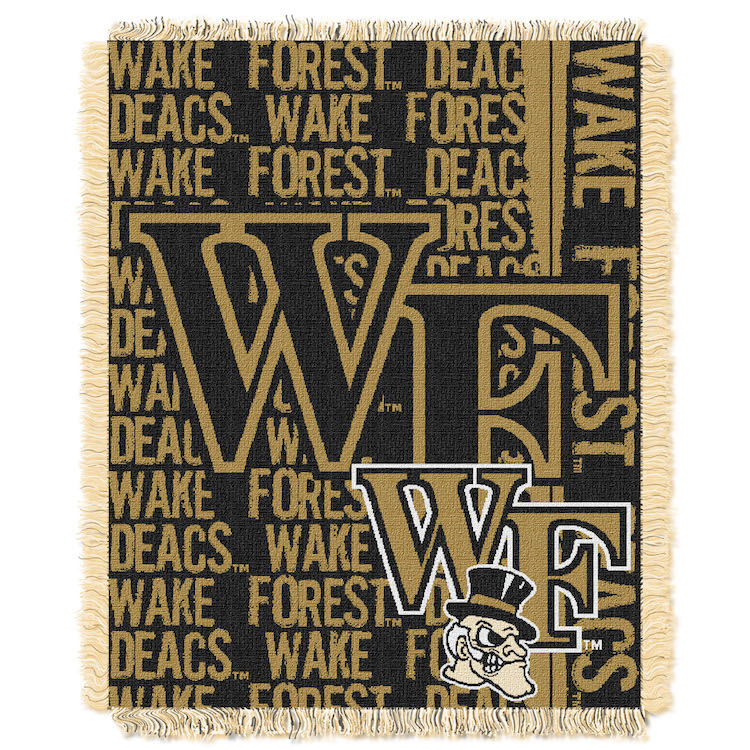 Wake Forest Demon Deacons Double Play Tapestry Blanket 48 x 60