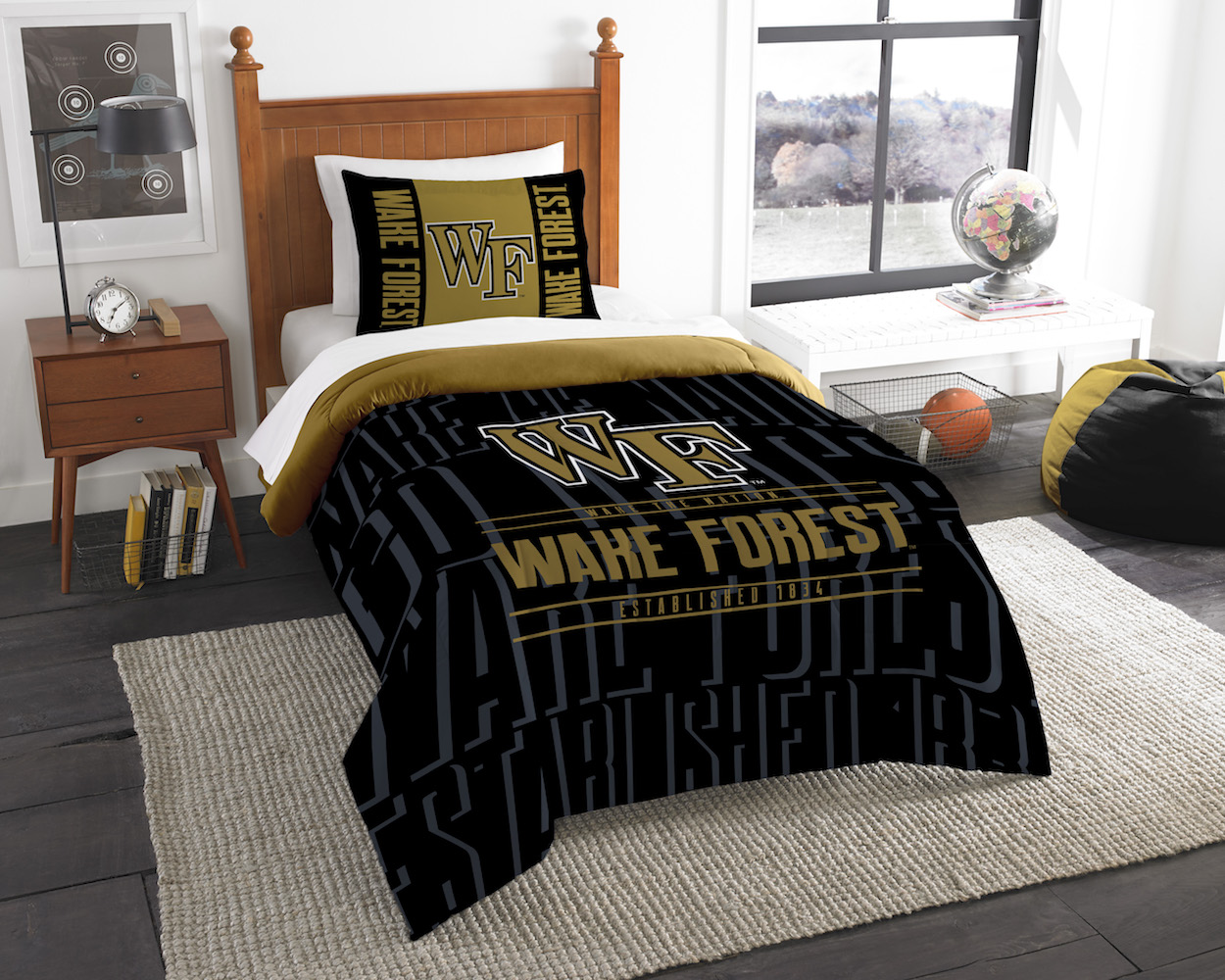 Wake Forest Demon Deacons Twin Comforter Set with Sham