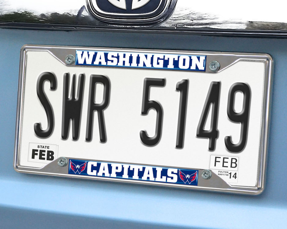 Washington Capitals License Plate Frame
