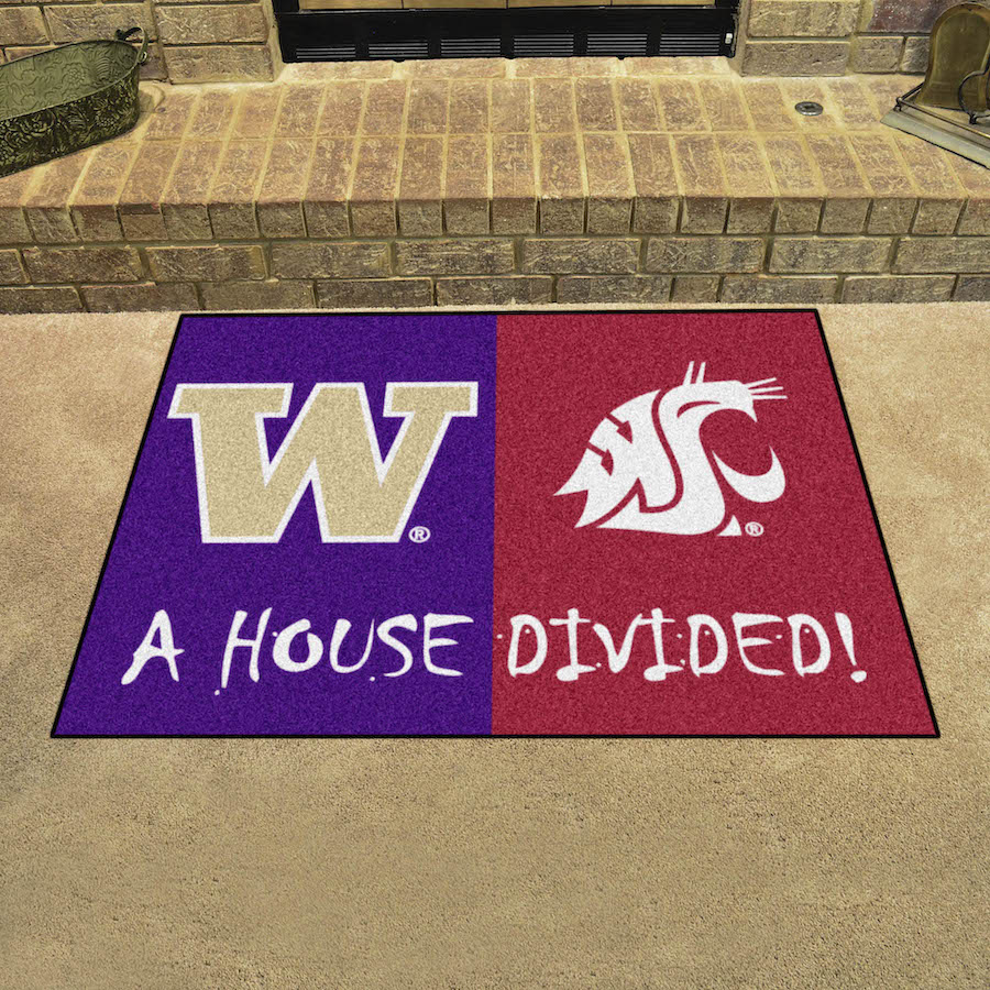 Ncaa House Divided Rivalry Rug Washington Huskies