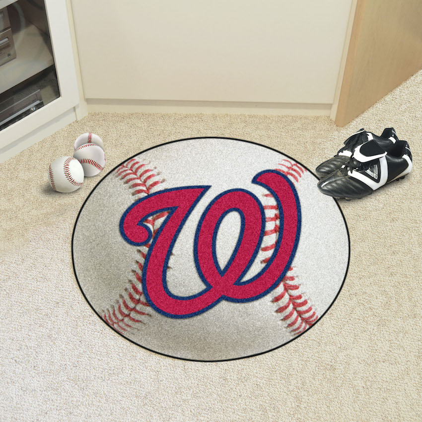 Washington Nationals Baseball Floor Mat