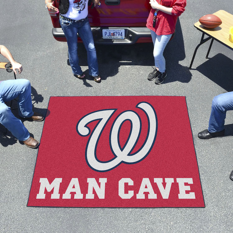 Washington Nationals MAN CAVE TAILGATER 60 x 72 Rug
