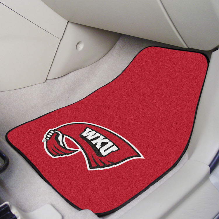 Western Kentucky Hilltoppers Car Floor Mats 18 x 27 Carpeted-Pair