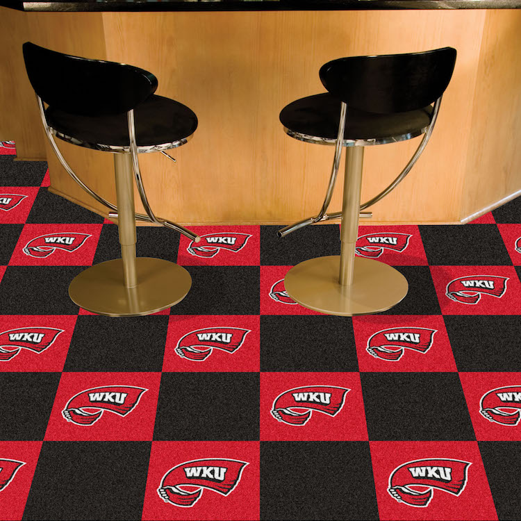 Western Kentucky Hilltoppers Carpet Tiles 18x18 in.