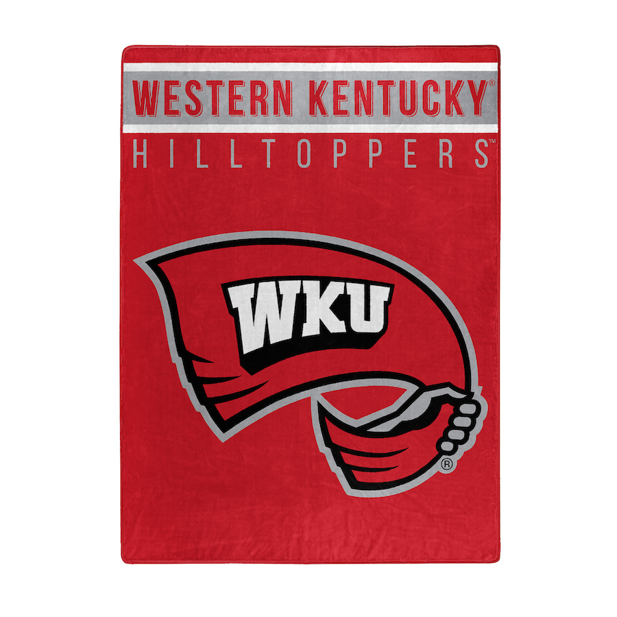 Western Kentucky Hilltoppers Large Plush Fleece OVERTIME 60 x 80 Blanket
