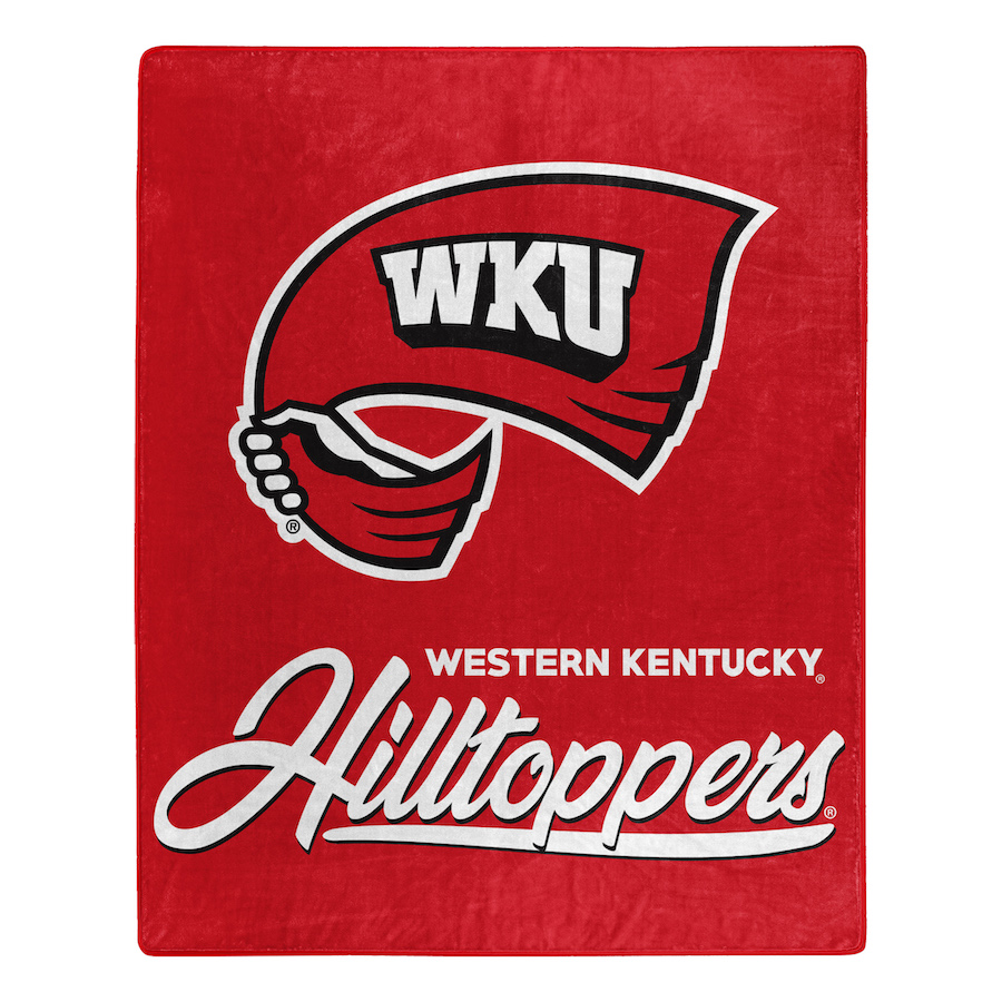 Western Kentucky Hilltoppers Plush Fleece Raschel Blanket 50 x 60