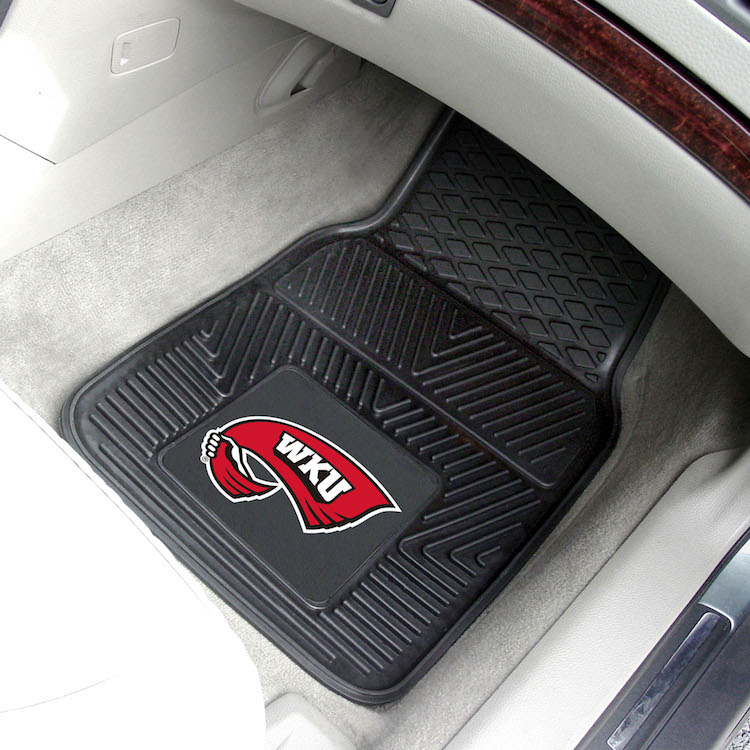 Western Kentucky Hilltoppers Car Floor Mats 18 x 27 Heavy Duty Vinyl Pair