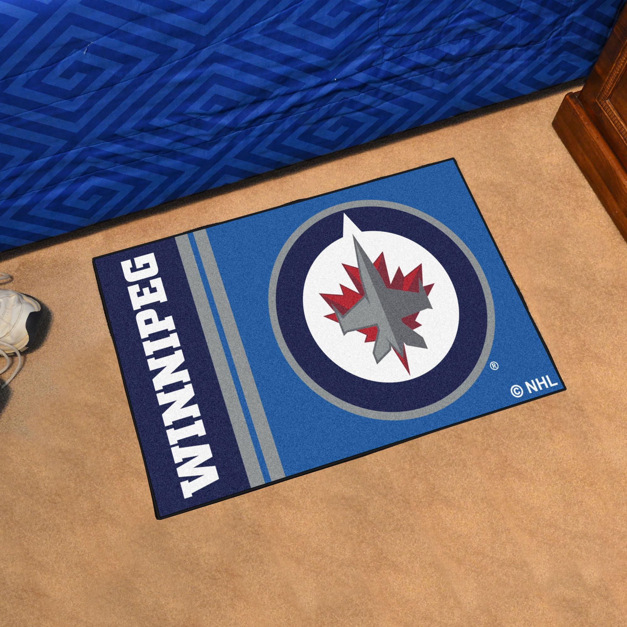 Winnipeg Jets 20 X 30 Uniform Inspired Starter Rug Buy