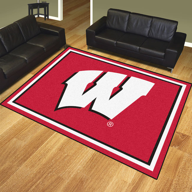 Wisconsin Badgers Ultra Plush 8x10 Area Rug Buy At Khc