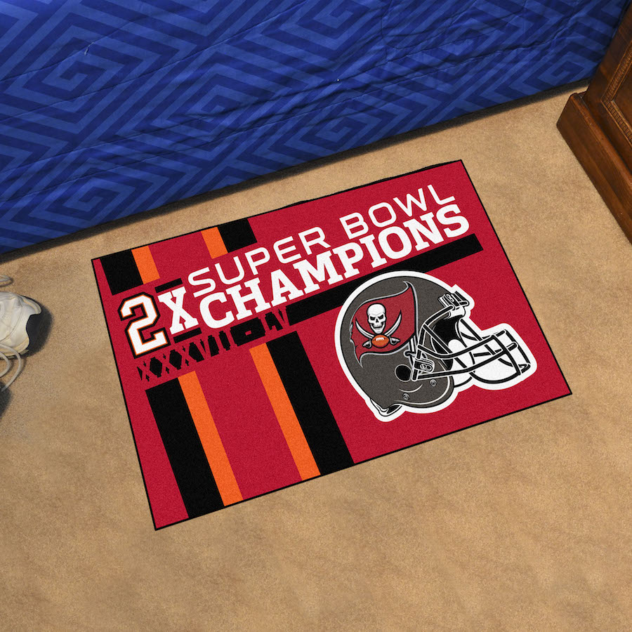 Tampa Bay Buccaneers Super Bowl DYNASTY 20 x 30 STARTER Floor Mat
