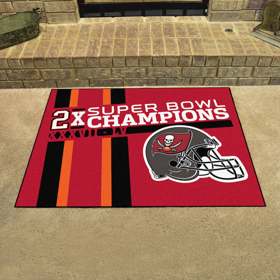 Tampa Bay Buccaneers Super Bowl DYNASTY 34 x 45 ALL STAR Floor Mat