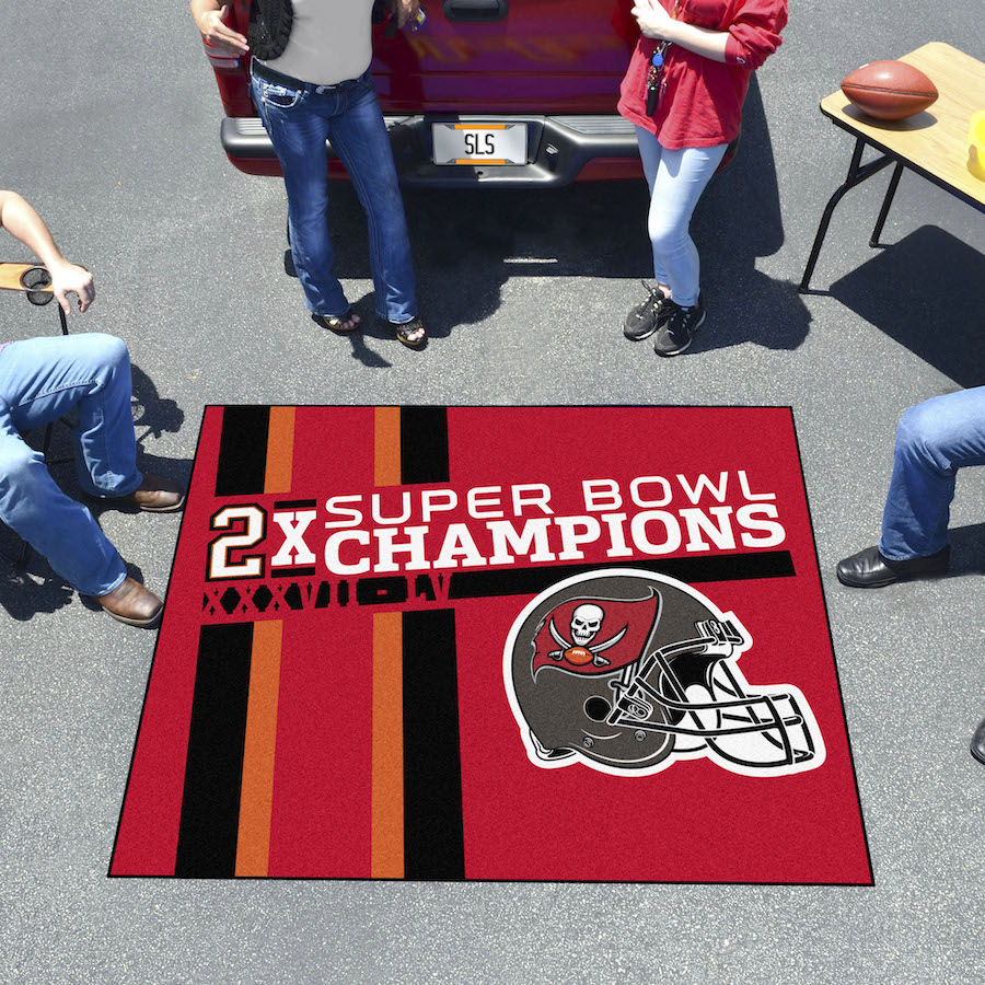 Tampa Bay Buccaneers Super Bowl DYNASTY 60 x 72 TAILGATER Floor Mat