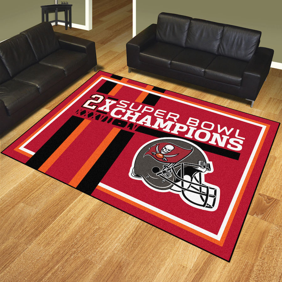 Tampa Bay Buccaneers DYNASTY 8x10 Area Rug