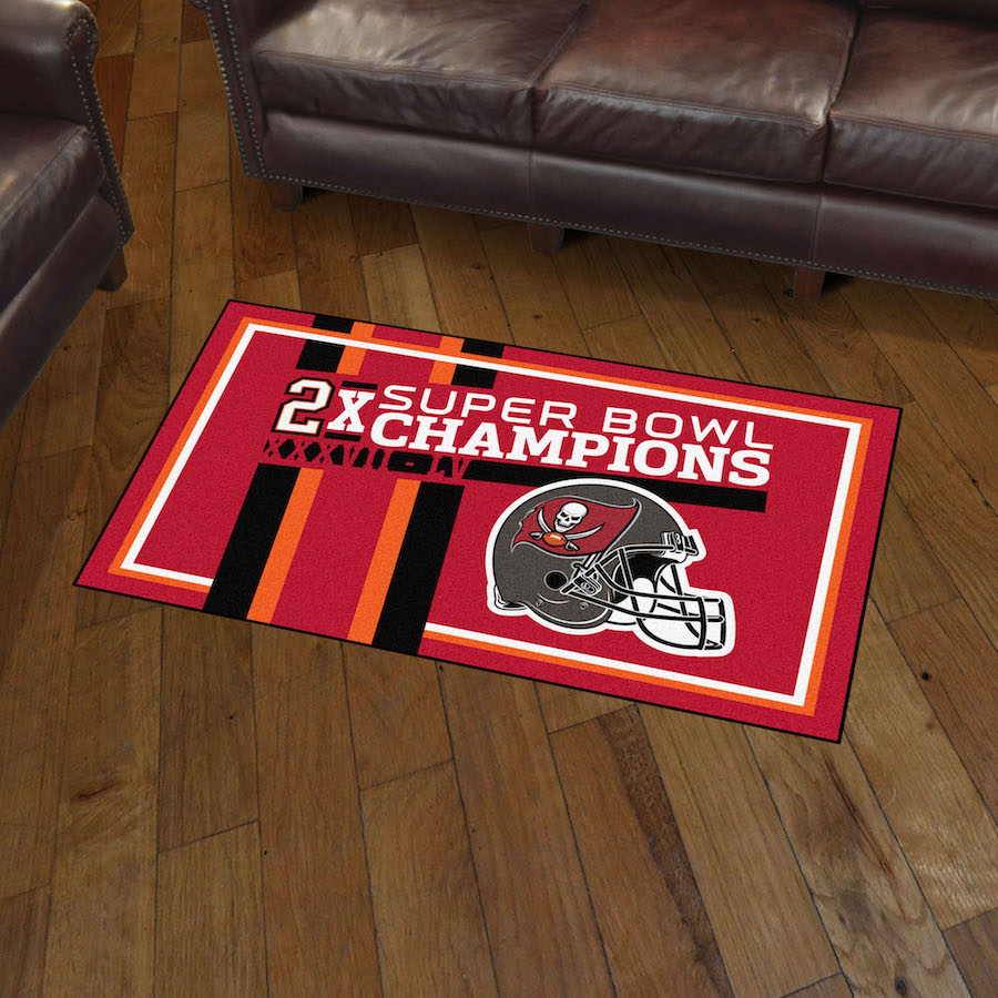 Tampa Bay Buccaneers DYNASTY 3x5 Area Rug