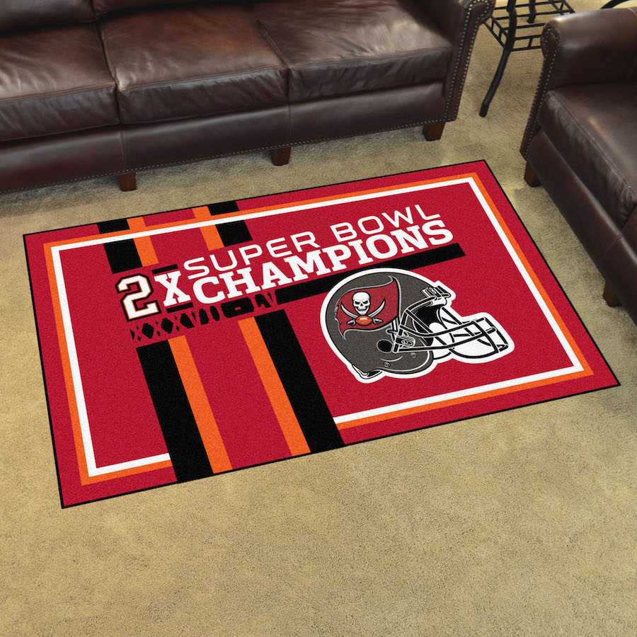 Tampa Bay Buccaneers DYNASTY 4x6 Area Rug