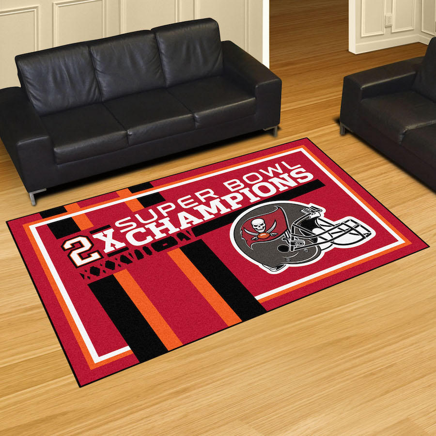 Tampa Bay Buccaneers DYNASTY 5x8 Area Rug